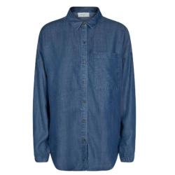 Blauwe denim blouse Wayne