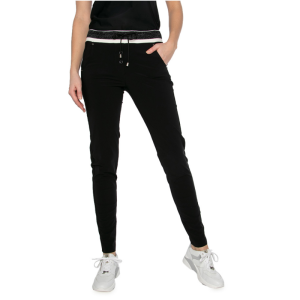 Zwarte broek met gebreide boord