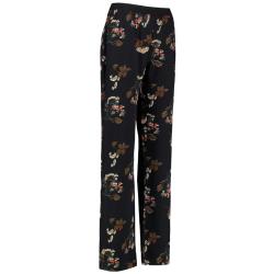 Zwart geprinte broek Butternut flower - XXL