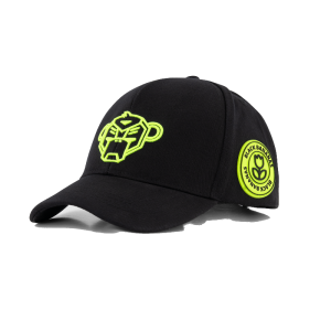 Zwart met gele cap Match Baseball