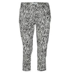 Zwart geprinte capri Zebra - S
