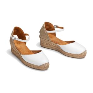 Witte sandaal Cisca