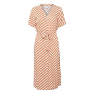 Bruin gestreepte jurk Mara