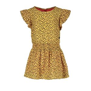 Panter gele woven jurk 7812