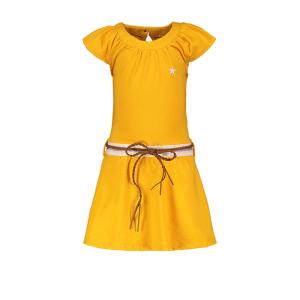 Gele jersey jurk 7865