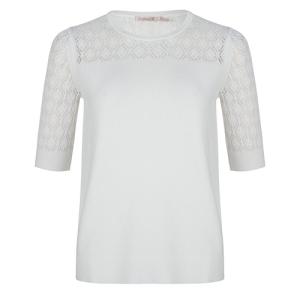 Witte sweater Pointel Short