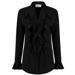 Zwarte blouse Volant