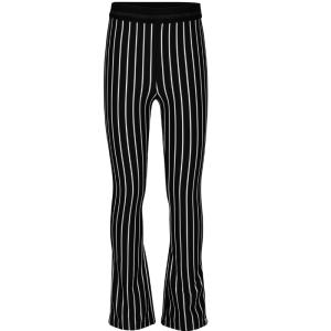 Zwart gestreepte flair broek Striped