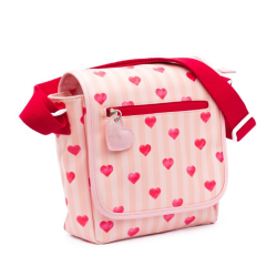 Roze flaptas Stripes & Hearts