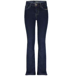 Donkerblauwe flair jeans Penny - 128