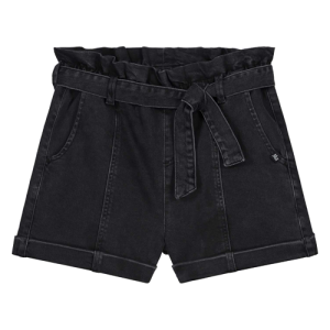 Black Denim short Franja