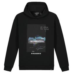 Zwarte hoodie Dotan