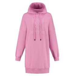Roze hoodie jurk NIKKIE