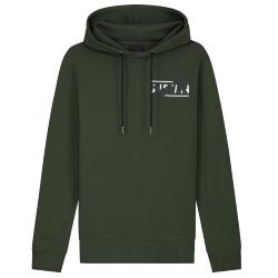 Groene hoodie Graphic Logo