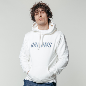 Witte hoodie CLRFL RBL Patch Basic