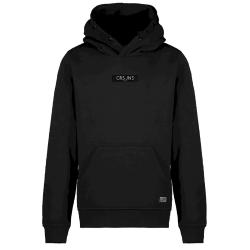 Zwarte hoodie Pearser