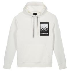 Witte hoodie Scribble - XL