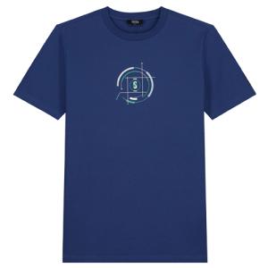 Kobaltblauwe regular t-shirt H.U.D.