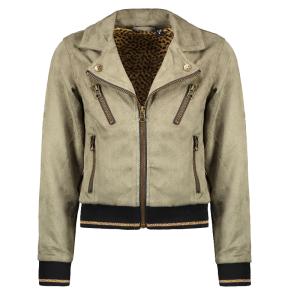 Armygroene suede biker jacket 5210