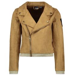 Beige suede biker jacket 5355 - 104