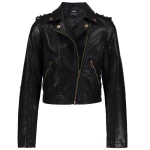 Zwarte fringes jacket Frankie