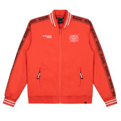 Koraalrode jacket Marnil Woven