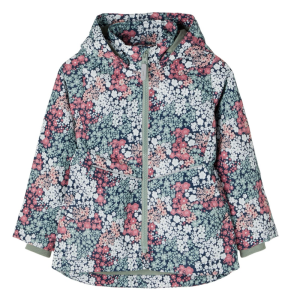Donkerblauw geprinte jacket Maxi