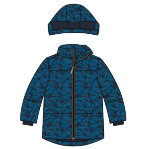 Blauwe whale jacket Max