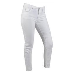 Witte slim fit broek Sabrina