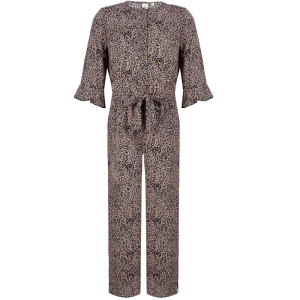 Zwart geprinte jumpsuit Fancy