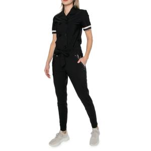 Zwarte revert jumpsuit