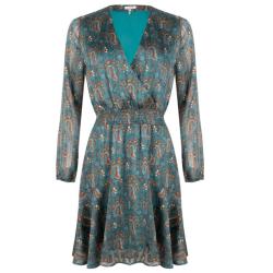 Blauwe jurk paisley 15515 - 40