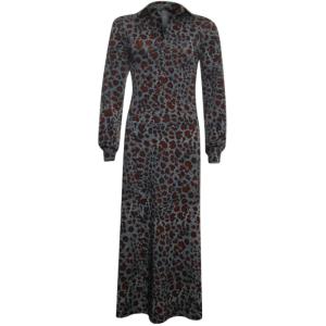 Geprinte spotted jurk 33165