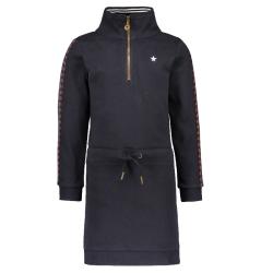 Donkerblauwe sweat jurk 5815