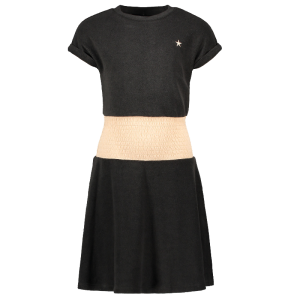 Antracietgrijze smock jurk 5854