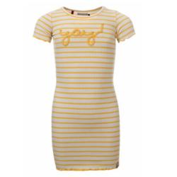 Geel gestreepte jurk 7816