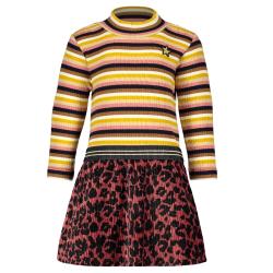 Bruine velvet jurk 7825