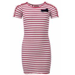 Rood gestreepte jurk 7850 - 104