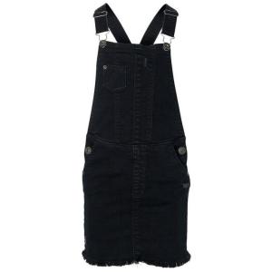 Zwarte denim jurk Djolie