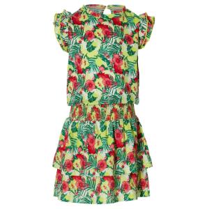 Gele multicolor jurk Farelle