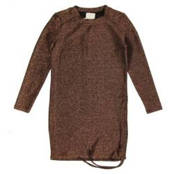 Bruine jurk Leonor