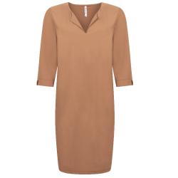 Cognac travel jurk Manon