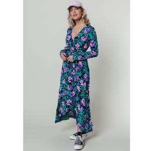 Multicolor wrap jurk Maya Flower Maxi