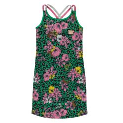Groene jurk Flower Leopard Simay
