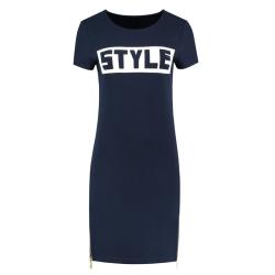 Blauwe jurk Style