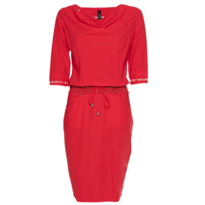 Rode waterval jurk