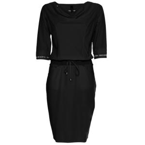 Zwarte waterval jurk