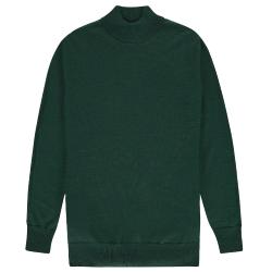 Groene merino knit Mock