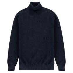 Donkerblauwe turtle knit Zigzag