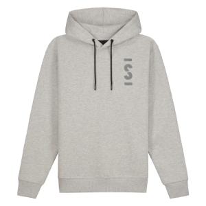 Lichtgrijze loose fit hoodie Logo